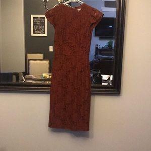 H&M lace flutter sleeve midi dress 2 pinup
